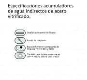 Especificaciones Acumulador de Agua Unistor