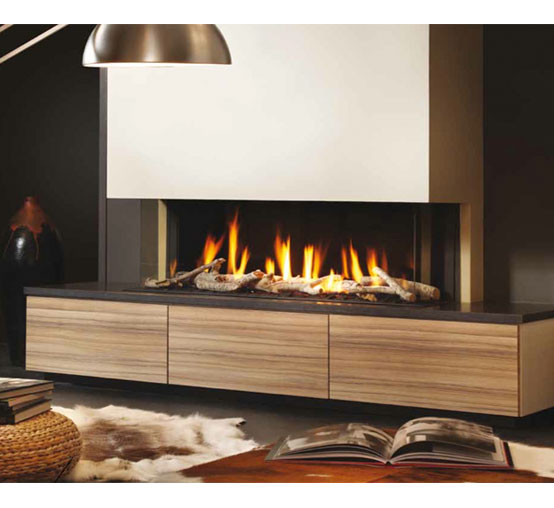 chimenea gas natural dru metro 130xt 3 caras