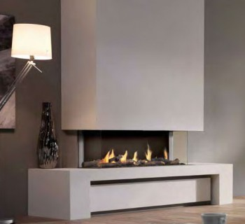 Chimenea gas natural dru metro 100xt 3 caras - Chimeneas gas natural ...