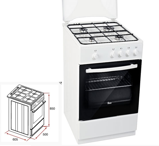Cocina a gas butano de libre instalaci n teka fs 501 4gg w for Cocina de gas profesional