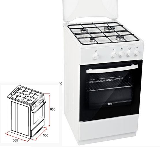 Cocina a gas butano de libre instalaci n teka fs 501 4gg w - Cocinas de gas natural en el corte ingles ...