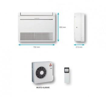 Aire acondicionado suelo MFZ-KJ-interior-y-exterior