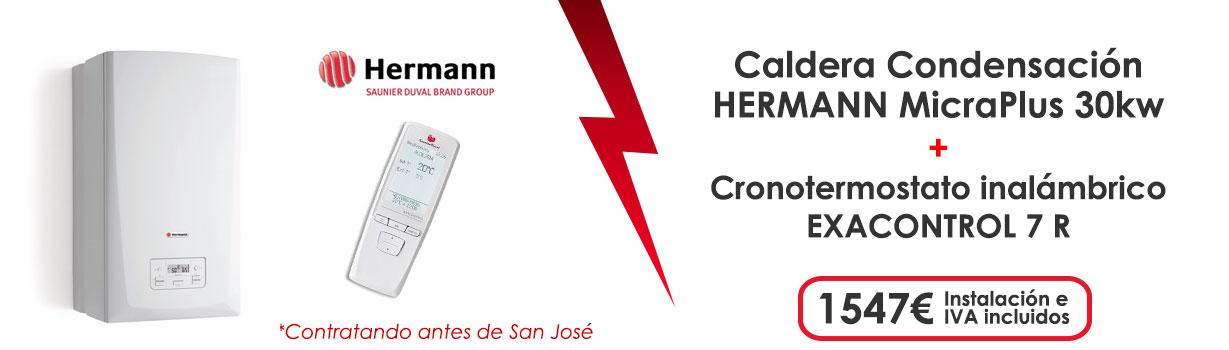 oferta caldera gas natural Hermann micraplus 30kw + cronotermostato exacontrol 7 r 1547€ instalacion e IVA incluidos