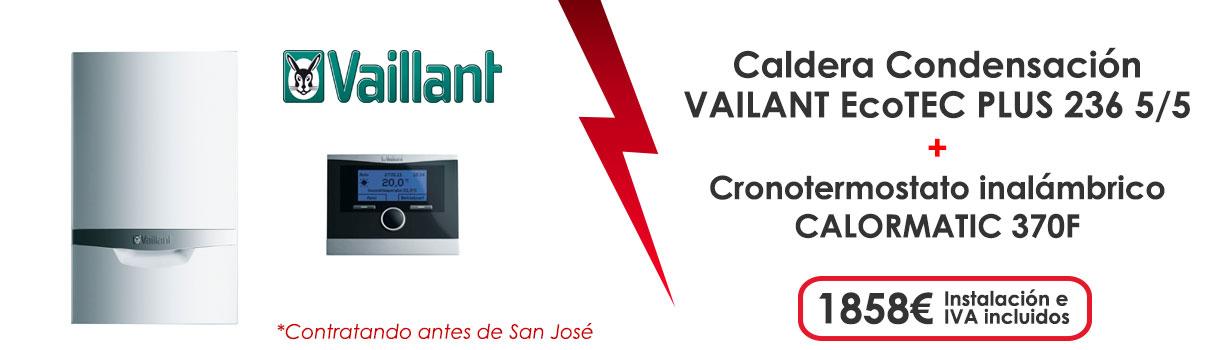 oferta caldera gas natural ecotec plus 236 5 5 + cronotermostato calormatic 370F 1858€ instalacion e IVA incluidos