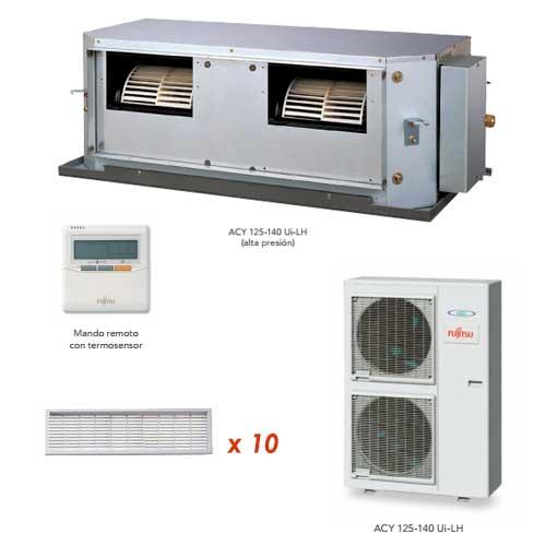 Oferta aire acondicionado conductos plus fujitsu acy140uia lh for Aire acondicionado conductos