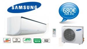 Oferta Aire Acondicionado Samsung 3500 frig. 680€