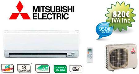 oferta aire acondicionado mitsubishi otoño 2012