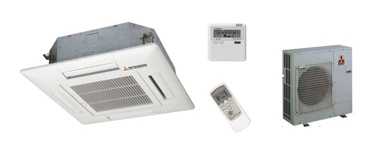 Tipos de aire acondicionado: cassette