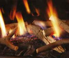 Chimeneas a gas natural decoración fuego Ramas estandar