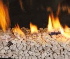 Chimeneas a gas natural decoración fuego piedras Stenen-wit