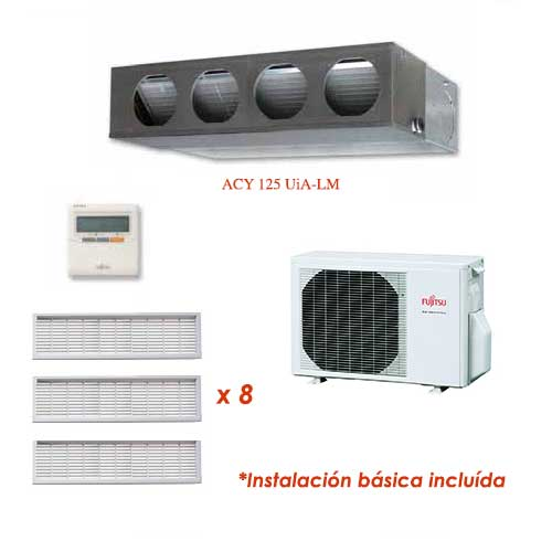 Oferta Aire acondicionado conductos PLUS FUJITSU ACY125UiA-LM