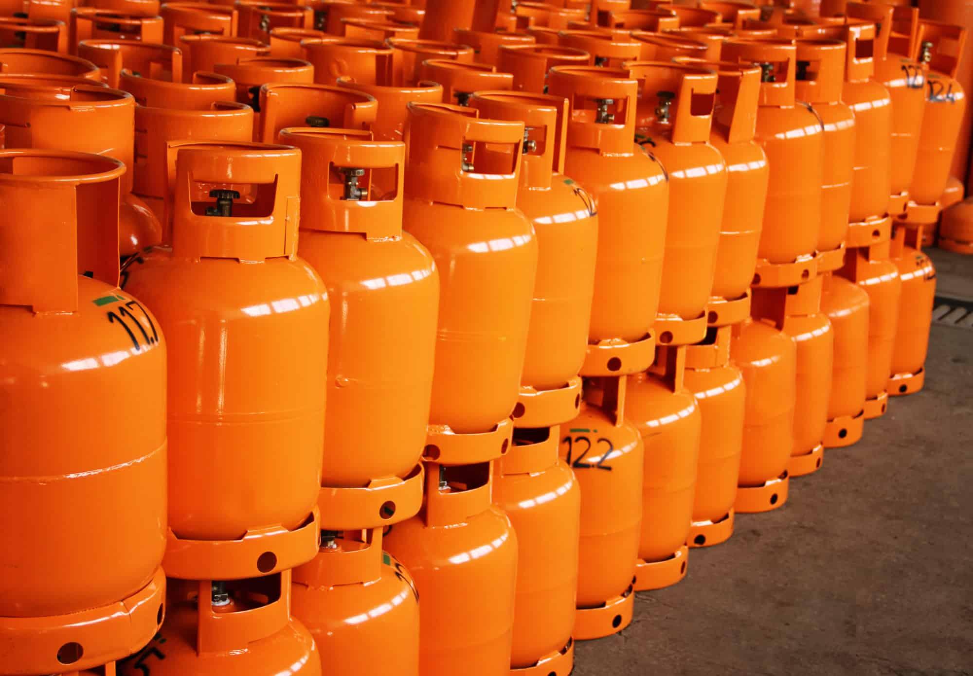 propane cylinder storage