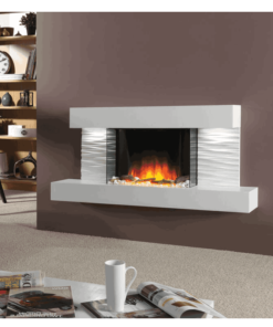Chimenea FLAMERITE FIRES ADOR pared arctic white 1000W