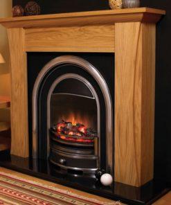 Chimenea FLAMERITE FIRES AUSTEN54 pie suelo oak 1000W