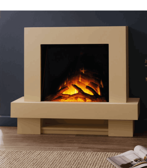 Chimenea FLAMERITE FIRES JAEGUER suelo ivory cream 750W