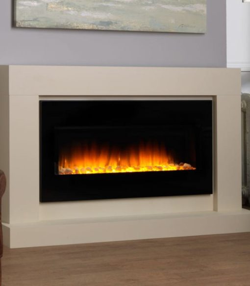 Chimenea FLAMERITE FIRES JUNAI suelo ivory cream 750W