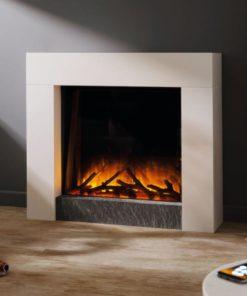 Chimenea FLAMERITE FIRES MAGELLAN suelo ivory cream 750W