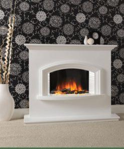 Chimenea FLAMERITE FIRES VALENTINO suelo arctic white 1000W