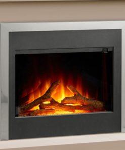 Chimenea FLAMERITE FIRES VOTARY suelo pastel grey silver 750W